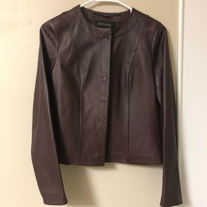 ESCADA — dark Burgundy/Berry leather Jacket